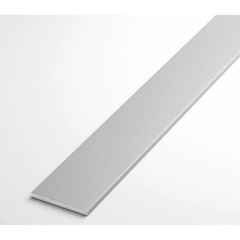 Полоса алюминиевая АД31Т1 2х50х3000 анод декоративный (матовое серебро)